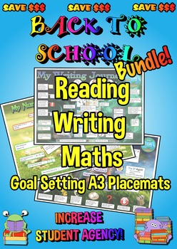 Reading, Writing and Maths Goal Setting Placemats - A3 - B