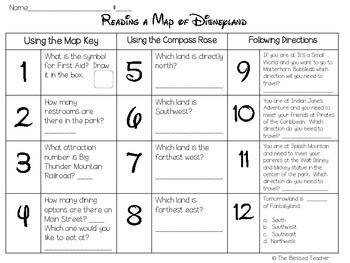 Reading a Map of Disneyland