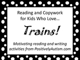 Reading and Copywork for Kids Who Love Trains