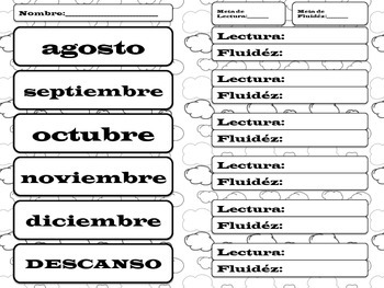 Reading and Fluency Record - Spanish