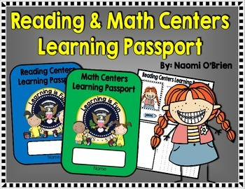 Reading and Math Centers Learning Passport!