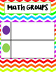 Reading and Math Groups Sorting Pages