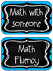 Reading and Math Stations Signs