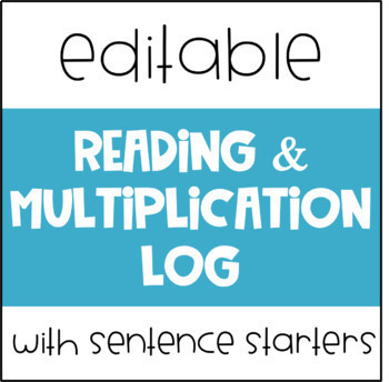 Reading and Multiplication Log Editable