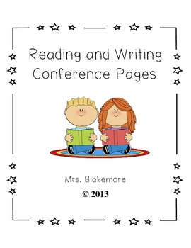 Reading and Writing Conference Pages