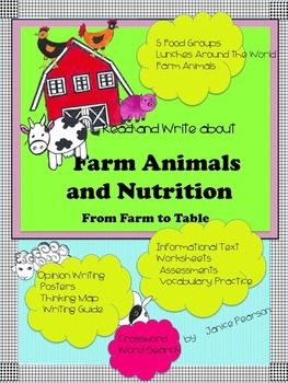 Reading and Writing about Nutrition and Farm Animals