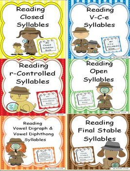 Reading Syllable Types Bundle Packet
