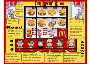 Reading comprehension with McDonald's