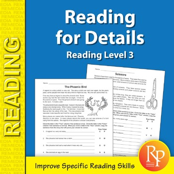 Reading for Details (Reading Level 3)