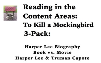 Reading in the Content Areas:  To Kill a Mockingbird 3-pack