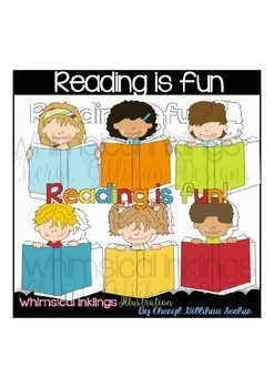 Reading is Fun Clipart Collection