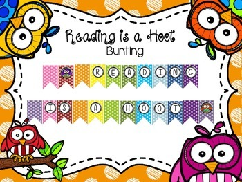 Reading is a Hoot Bunting