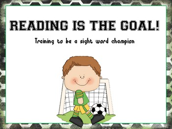 Reading is the Goal Soccer Theme Sight Word Practice