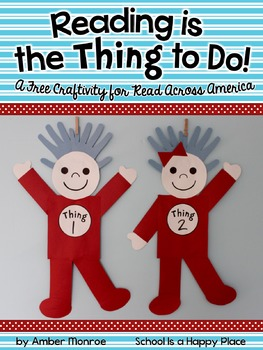 Reading is the Thing to Do! {A Free Craftivity for Read Ac