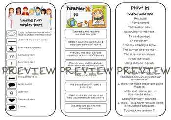 Reading strategies tri-fold bookmark