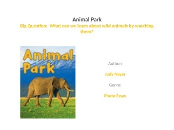Reading street unit 1 week 6 Animal park