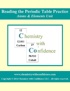 Reading the Periodic Table Practice WS