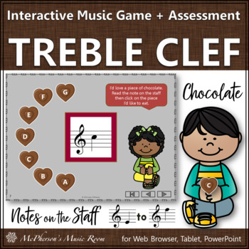 Treble Clef: Reading Notes on the Staff {Interactive Music