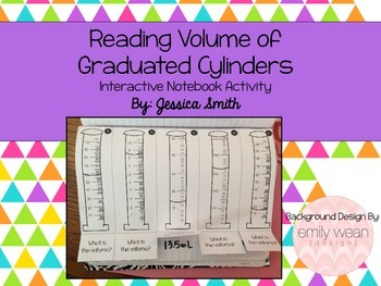 Volume of Graduated Cylinders Foldable