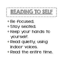 Reading to Self Expectations