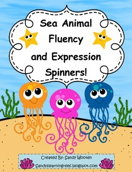 Reading with Fluency and Expression Sea Animal Themed Spin