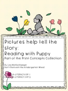 Reading with Puppy: Using pictures to tell a story