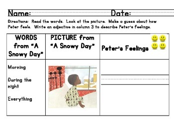 "Ready Gen ""A Snowy Day"" Minilesson: making inferences usin"