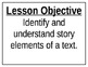 Ready Gen First (1st) Grade Objective Posters and Vocabula