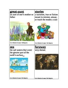 Ready Gen First Grade Unit 4 Module A Miss Rumphius vocabulary