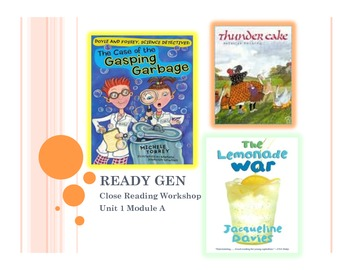Ready Gen Grade 3-Unit 1 Module A Close Workshop and Exten