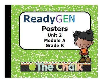 ReadyGen Kindergarten Unit 2 Module A Posters