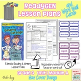 ReadyGen Lesson Plans Unit 1 Module A  - Word Wall Cards -