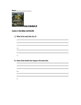 Ready Gen Unit 2 Module B Lessons 1-18 Worksheets
