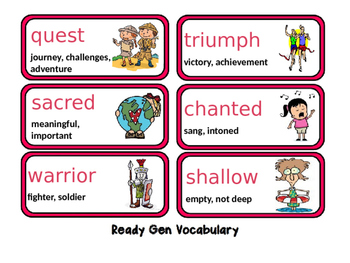Ready Gen Unit2 ModB Vocabulary