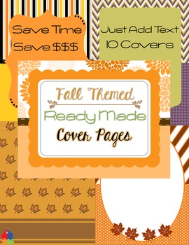 Ready Made Cover Pages - Fall Themed