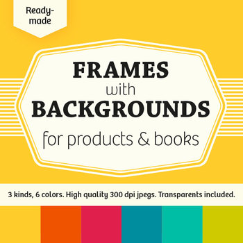 Ready-Made Frames with Backgrounds for Products & Books –