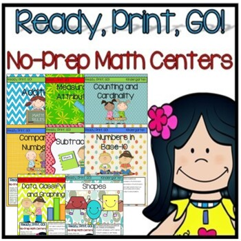 Ready, Print, GO! No-Prep Math Center Bundle (Kindergarten)