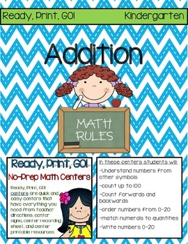 Ready, Print, GO! No-Prep Math Centers: Addition