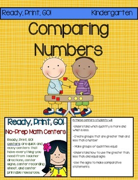 Ready, Print, GO! No-Prep Math Centers: Comparing Numbers