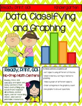 Ready, Print, GO! No-Prep Math Centers: Data, Classifying,