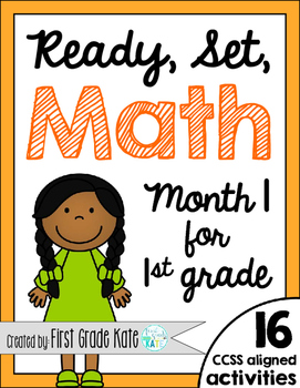 First Grade Math Centers for Month 1