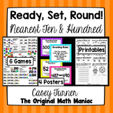 Ready, Set, Round! {Nearest Ten & Hundred} Posters, Games,