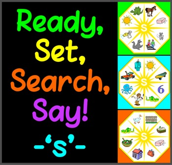 Ready, Set, Search, Say! – 'S' –  articulation / speech th