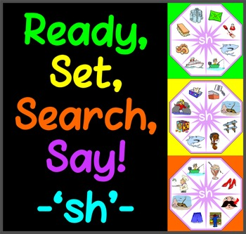 Ready, Set, Search, Say! – 'sh' –  articulation / speech t