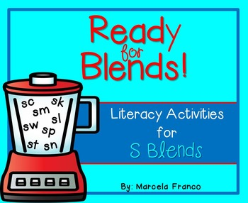 S Blends Literacy Activities