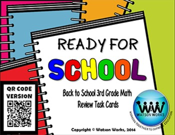 Ready for School: Back to School 3rd Grade Math Review Tas