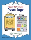 Ready for School - Poem-ingo - Bingo With a Twist of Words