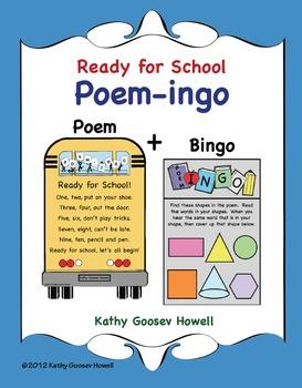 Ready for School - Poem-ingo - Bingo With a Twist of Words