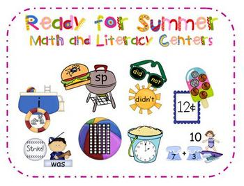Ready for Summer Math and Literacy Centers