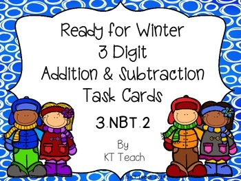 Ready for Winter 3-Digit Addition and Subtraction With Reg